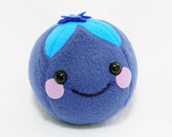 Play food blueberry plush toy