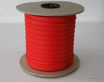 """Double Fold Bias Tape 1/2"""" BRIGHT RED 25 Yards Wholesale"""