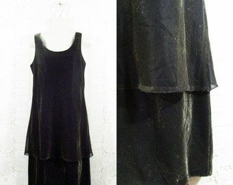 40% OFF SALE Vtg 80s Layered Shimmer Holiday New Years Eve Sleeveless Dress sz 12