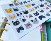 Planner stickers - Kitty heads