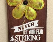 Never Let Your Fear of Striking Out Keep You From Playing The Game Softball Sign Decor Inspirational Quote Softball FLOWER YELLOW SOFTBALL