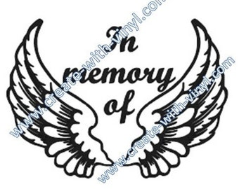In Memory of SVG file - Cameo, Cricut, Embroidery svg files, memorial decal