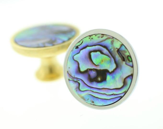 Mermaid Knob--Abalone Cabinet Knob