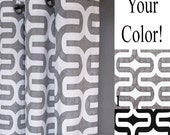 Embrace Fabric Shower Curtain - FREE SHIP - Geometric Shower Curtain - Grey, White or Black