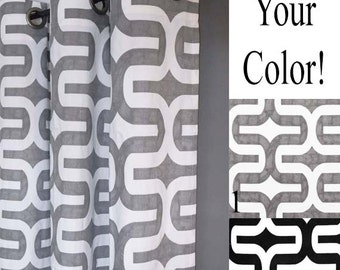 Embrace Fabric Shower Curtain - FREE SHIP - Geometric Shower Curtain - Grey, White or Black - Shower Curtains - Stall Shower - Home Decor