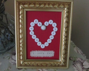 "Frame heart handmade ""I love you"" / Heart frame handmade ""I love you"""