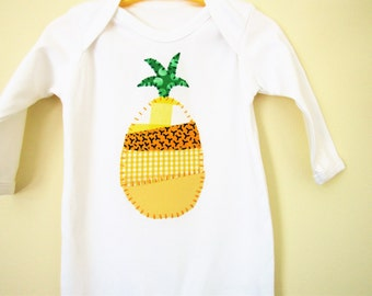 Pineapple babygrow - trendy baby clothes - kidswear- patchwork pineapple sleepsuit