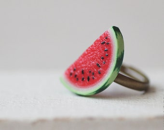 Watermelon Ring - Food Jewelry - Vegan Ring