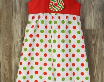 Girls size 4 Cotton Dress, OOAK Riley Blake fabrics