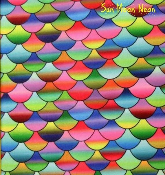 Poly spandex print60 4w stretch swimweardancewear by for Rainbow fish fabric