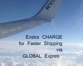 Faster shipping via Global Expres - EXTRA CHARGE