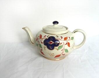 Antique teapot - vintage imari teapot - English Victorian teapot - antique ceramic teapot - imari pattern teapot