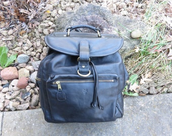 "Vintage Frye leather backpack   EUC  original owner  This is for hiking 16"" x 16"""