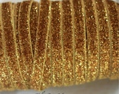 "ON SALE 5% OFF 3/8"" Glitter Elastic  - Gold Color - Gold Glitter Velvet Elastic - Gold Glitter Elastic -Hair Accessories  Supplies"