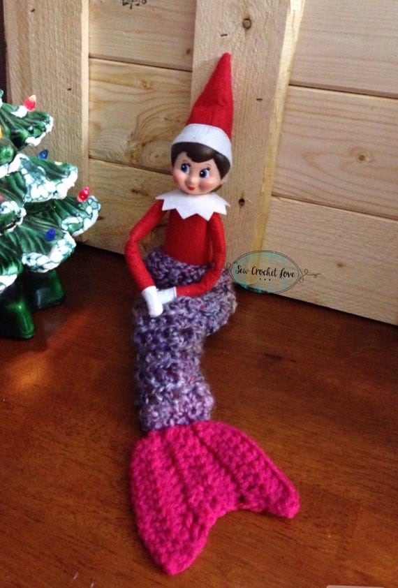 Elf On The Shelf Mermaid Tail Blanket