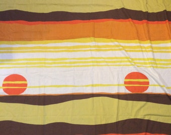 70s bed sheet sunset sunrise earth tones modern design natural fabric hippy gypsy decor