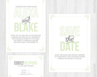 The Ashley | Simple Hipster Wedding Invitation Suite
