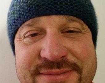 Men's Hand Knit Beanie Hat