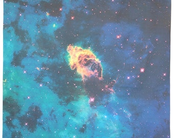 Jet in Carina Nebula 35 x 41 inches (89 x 104 cm) Hubble Photograph Astronomy Kona Cotton Fabric