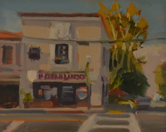 Potholder - Cafe - Diner - Breakfast - Lunch - Brunch - Long Beach - Local - Neighborhood - Plein Air - Landscape - Oil Painting -Restaurant