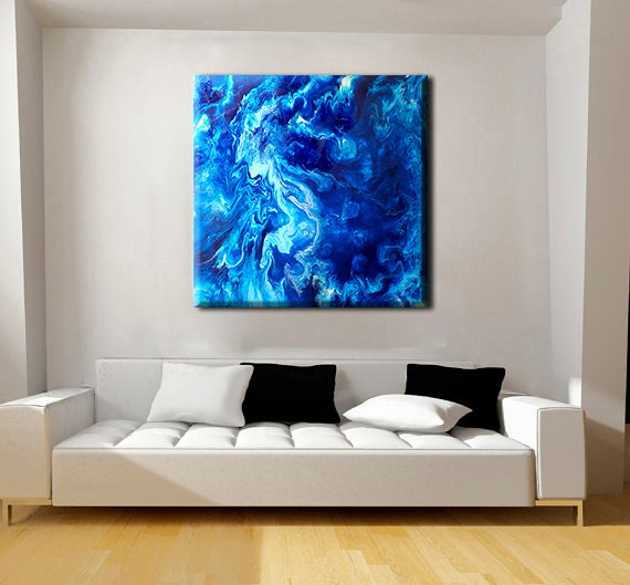Epoxy Painting Canvas : Abstract painting original canvas art epoxy resin
