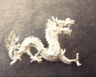 Sterling Silver Large Dragon Pendant P71
