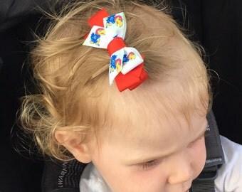 KU JAYHAWKS Hair Clip, Kansas University Hair bow, Jayhaws Headband