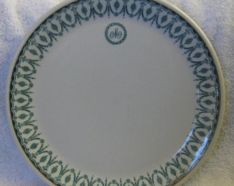 Dunn Bennett Royal Doulton, Madison Hotel Washington DC, Restaurant Ware Dinner Plates M Monogram 10 inch Made in England Good Condition