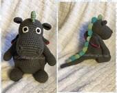 Dragon, Stuffed Dragon, Crochet Stuffed Dragon, Crochet Stuffed Animal, Dragon Toy, Crochet Toy, Toy, Stuffed Animal, Soft Toy, Nursery