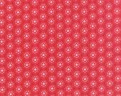MODA Lil Red Spinning Tulips Red 20505 13 HALF YARD by Stacy Iset Hsu