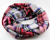 Beautiful Red Flannel Infinity Scarf for Fall