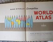 1959 Rand McNally Cosmopolitan World Atlas Book