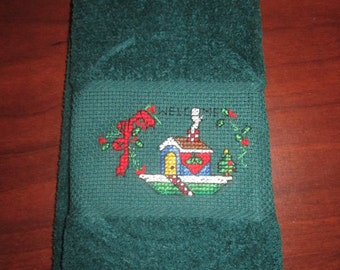 Welcome Christmas Fingertip Towel