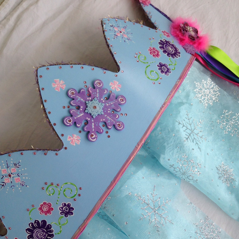 Snowflake tuin princess crown bed luifel door thefairypaintbox