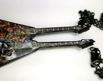 MEGADETH DAVE MUSTAINE double neck customs