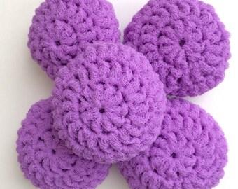 Nylon Net Scrubbies - Lilac - Set of 5