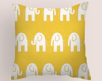 Decorative Yellow  Pillow Cover, All sizes , Decorative Throw Pillows, Nursery Pillows, Decorative Pillow, Kids Pillows