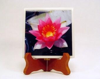 Pink Water Lily Handmade Photo Coaster FI151