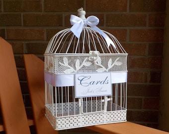 Wedding Bird Cage Money Holder, Bird Cage Wedding Card Box, Birdcage Card Holder, Shower Cards, Card Holder, Custom Wedding Card Box