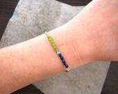 Personalized Jewelry-Charm Bracelet-Initial Bracelet-Czech Glass Bracelet-Gift Jewelry-Delicate Bracelet-Dainty Jewelry-Free Shipping