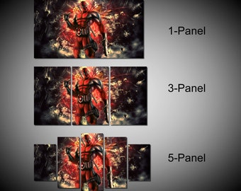 Framed Deadpool Merc With A Mouth Marvel Comic Super Hero Wall Canvas - Ready to Hang
