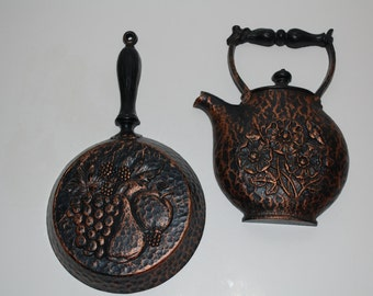 Homco Skillet and Teapot