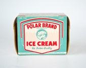 Vintage Polar Brand Ice Cream Carton ~ Vintage Grocery Display ~ Vintage Advertising ~ New Old Stock