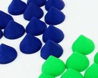 10 Pieces.Mix Neon Matte flatback no holes Spike Beads Cone 10mm x 8mm Cabochons Kawaii Deco acrylic. Craft Supplies. DIY Supplies
