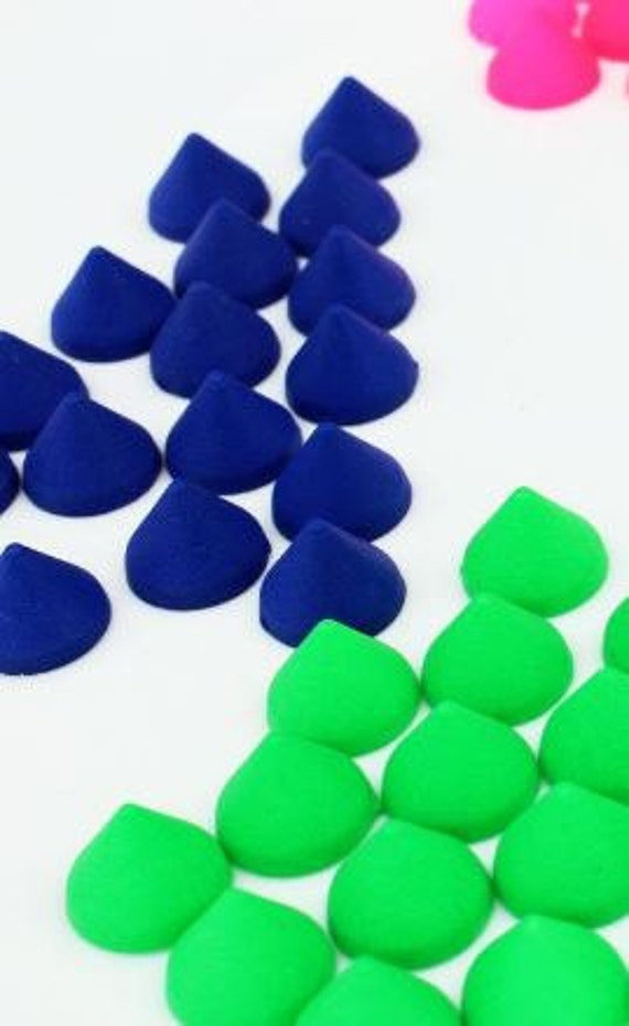 10 Pieces.Mix Neon Matte flatback no holes Spike Beads Cone 10mm x 8mm Cabochons Kawaii Deco acrylic. Craft Supplies. DIY Supplies