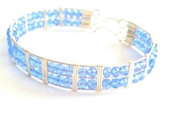 Blue Swarovski Crystal Bracelet
