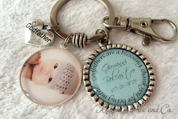 Godparent Keychain Gift For Godparents Gift For: GODFATHER, GODMOTHER Personalized Gift For Godparents