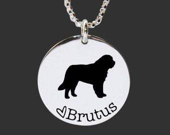 St. Bernard Necklace | St. Bernard Jewelry | Personalized Dog Necklace | 925 Sterling Silver Necklace by Korena Loves