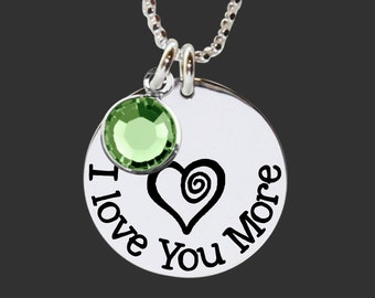 Daughter Gifts   Teen Gifts   Granddaughter Gifts   I Love You More 925 Sterling Silver Necklace by Korena Loves