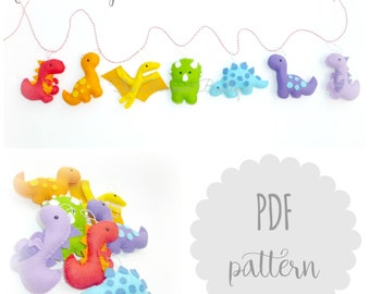 PDF instructions dinosaur garland kit
